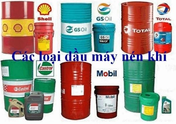 Một số thương hiệu dầu máy dành cho máy nén khí